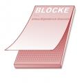 Notizblock A4,  25 Blatt, 4/0 farbig, Kopfleimung