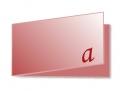 Visiten-Klappkarte 85 x 55mm,  4seitig,  4/4 farbig, 350g/qm BD matt